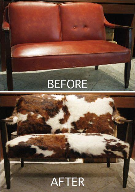 cowhide reupholster reupholstering slipcovers diy