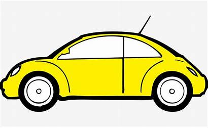 Cartoon Yellow Clipart Kartun Mobil Stroke Bus