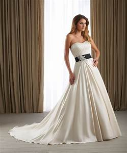 wedding dresses with black sash for stunning bridal look With wedding dress sash