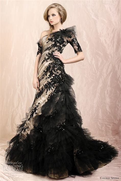 beautiful black wedding gowns   dream wedding