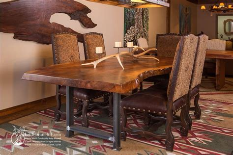 Rustic Dining Table by Rustic Dining Table Live Edge Wood Slabs Littlebranch Farm