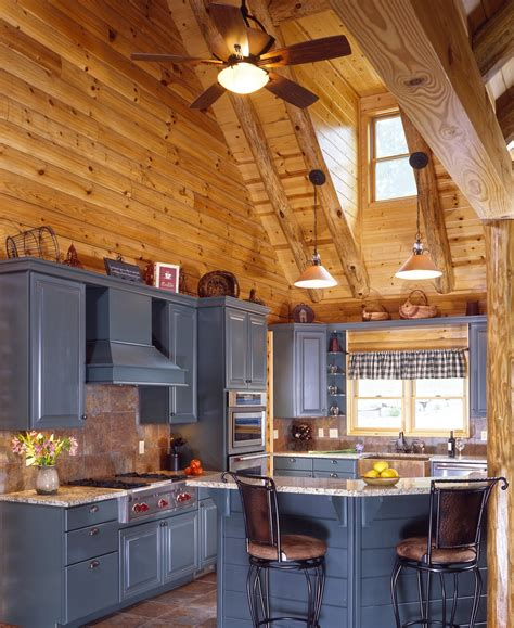 log cabin kitchens with modern and rustic style homestylediary