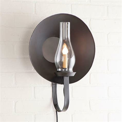lighting sconces wall country new smokey black hurricane wall sconce light w