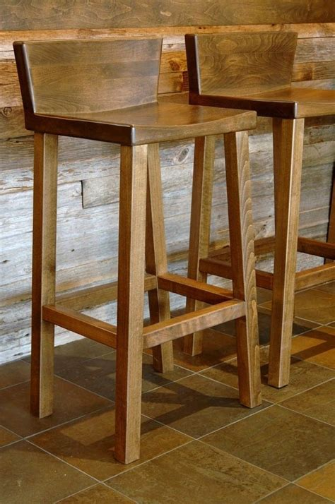 Wooden Bar Chairs With Backs by Wooden Bar Stool With Back Woodworking Projects Plans