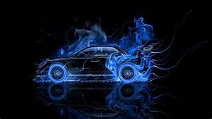 Subaru Impreza WRX STI Side Fire Abstract Car 2014 el Tony