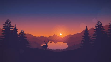 wallpaper firewatch   art forest games