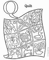 Coloring Quilt Pages Alphabet Pre Preschool sketch template