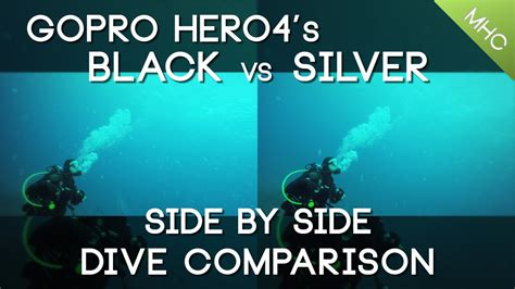 gopro hero diving comparison black silver daytime