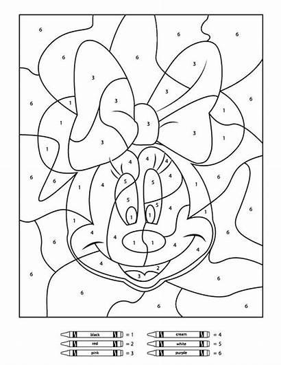 Number Coloring Printables Children Disney Simple Sheet
