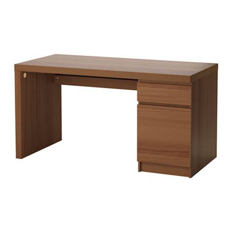 bureau malm malm bureau teinté brun plaqué frêne ikea