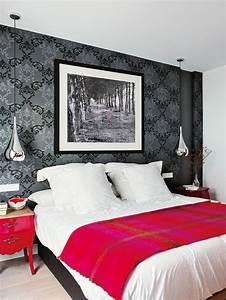 tapeten ideen fur eine ausgefallene wandgestaltung With balkon teppich mit schwarz graue tapeten