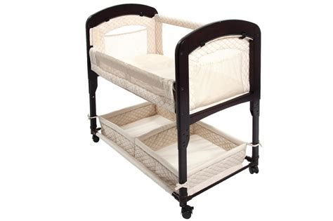 Arms Reach The Cambria Co Sleeper Bedside Bassinet Natural