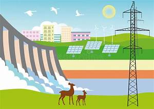 Ecologically clean Energy stock vector. Illustration of ...