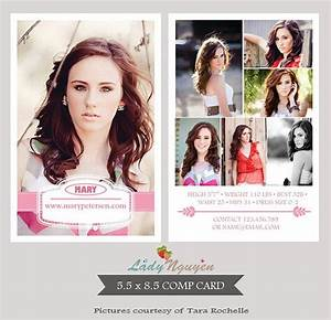 Instant download modeling comp card photoshop templates ca054 for Comp card templates free