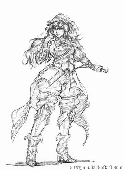 Random Character Sketch Deviantart Coloring Pages Adult