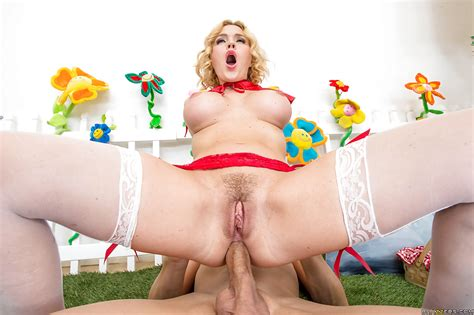 playful blondie with sexy ass krissy lynn enjoys cosplay anal banging