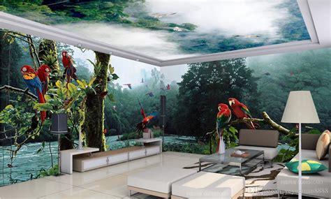 custom wallpaper  seaview pool  bathroom wall