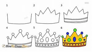 Easy Ways To Draw A Crown In Few Steps With Pictures