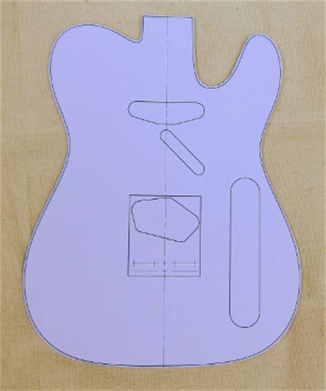 telecaster template guitar templates