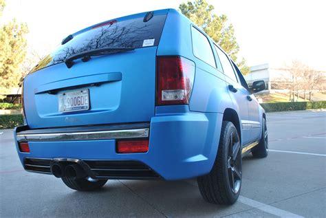 jeep matte blue matte blue metallic jeep grand cherokee color change wrap