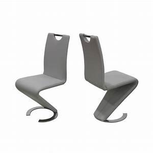 Chaise Grise Pas Cher : lot de 2 chaises gris design sydney achat vente chaise simili acier cdiscount ~ Teatrodelosmanantiales.com Idées de Décoration