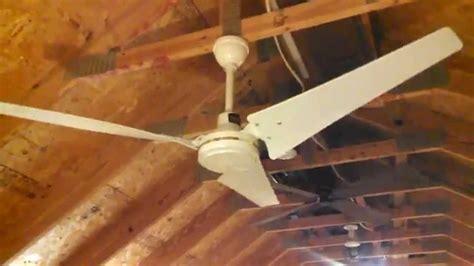 envirofan gold line industrial ceiling fan model 160f 7 c 1985 with hton bay blades
