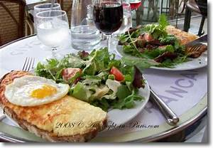Typical French food Croque Monsieur & Croque Madame