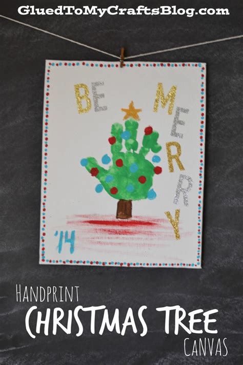 handprint footprint christmas canvas ideas
