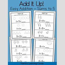Simple Addition On Pinterest  Apple Activities Kindergarten, Kindergarten Addition And