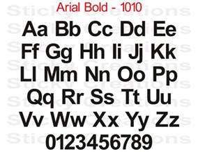 Arial Bold Font