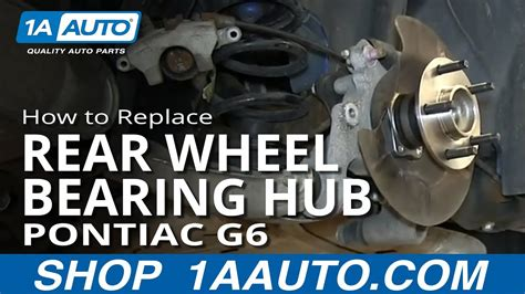 replace rear wheel bearing hub   pontiac