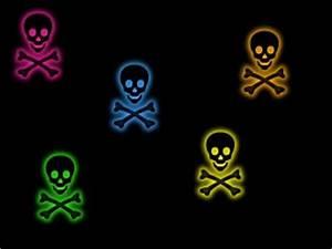neon skulls Backgrounds CreateBlog