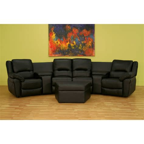 home theater seating curved row   black   white