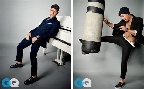 nick jonas rocks double breasted suits for gq february 2015 photo shoot