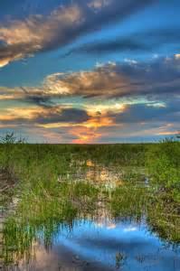 Sunset Over Florida Everglades