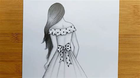 New drawing #inspired from edgar. Easy way to draw a girl with long hair for beginners ...