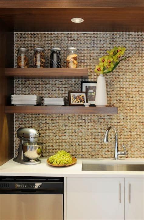 mosaic tile backsplash contemporary kitchen corea