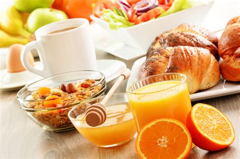 Actually, for a clear idea of the role coffee has with breakfast, just drop by that diner or café. Breakfast including coffee, bread, honey, orange juice, muesli a - Canterbury Bid