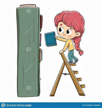 Ladder Bookshelf Books Vector Climb