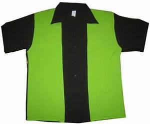 300 Bowl Electric Retro Bowling Shirt Black Lime