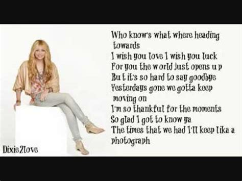I'll Always Remember You  Miley Cyrus (lyrics)wmv Youtube