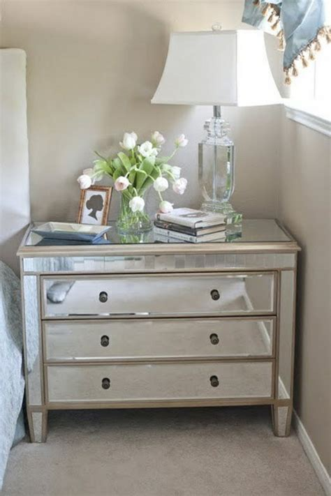 white mirrored nightstand 45 interior design ideas for chest of drawers with mirror