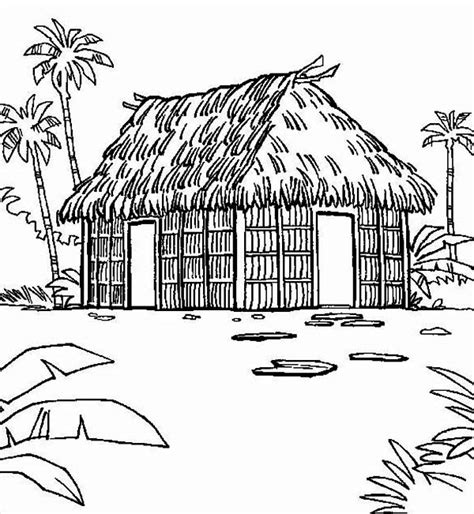 house rumah coloring pages print coloring