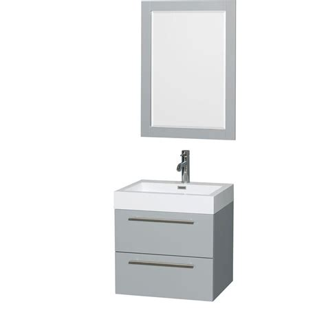 Wyndham Collection Amare 24inch W Vanity In Dove Grey