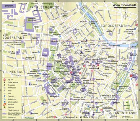 tourist map  vienna full size