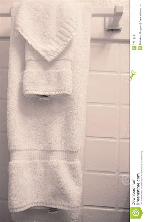 Towels Hanging In Bathroom Stock Towels Hanging In Bathroom Stock Image Image Of Domestic