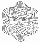 Coloring Celtic sketch template