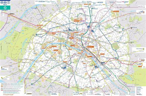 Carte Metro Rer by Carte De Carte Touristique Et Plan De