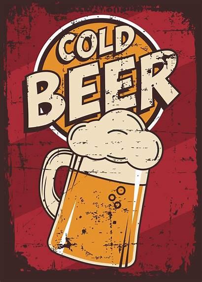 Bier Retro Beer Cold Della Signage Annata