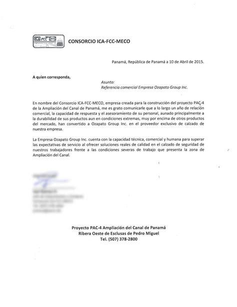 Carta de referencia Consorcio PAC4 (Ica, Fcc, Meco